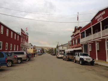 main street (only street) in Dawson)